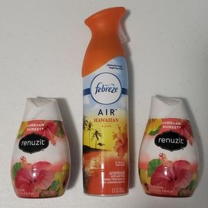 Renuzit Febreze Air Freshener Hawaiian Gel Spray